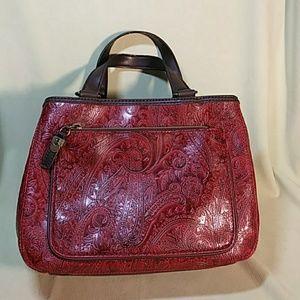 Handbags - Relic Handbag Ruby Red Paisley